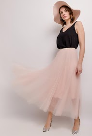 COLYNN gonna lunga in tulle