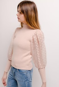 COLYNN sweater with balloon sleeves