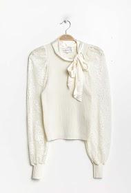 COLYNN maglione con maniche a sbuffo