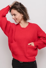 COLYNN casual sweater with pockets