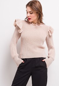 COLYNN shiny ribbed sweater