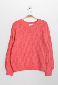COLYNN blød openwork-sweater