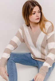 COLYNN stribet sweater