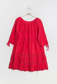COLYNN embroidered and perforated dress
