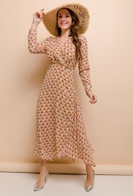 COLYNN trykt midi-kjole