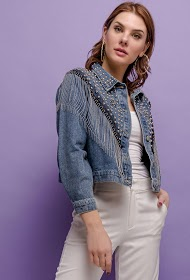 COLYNN giacca di jeans con frange