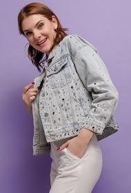 COLYNN giacca di jeans con borchie