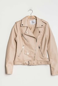 COLYNN perfecto jacket with belt