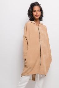 CORALINE velvet hooded sweatshirt