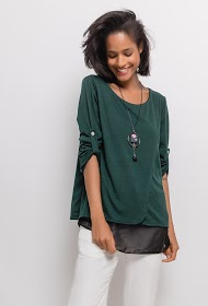 CORALINE blouse with necklace