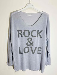 CORALINE rock & love printed sweater