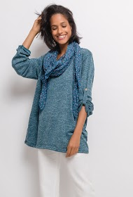 CORALINE fine sweater with scarf