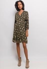 CORALINE golden polka dot dress