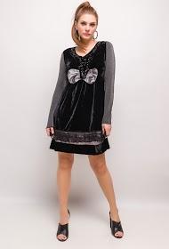 CORALINE bi-material dress