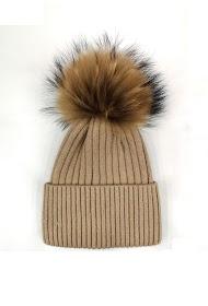 DA FASHION fur pompom hat