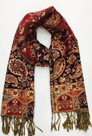 DA FASHION shiny scarf with lurex