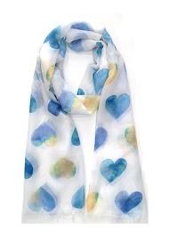 DA FASHION heart drawing scarf