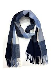 DA FASHION winter scarf soft and silky plaid pattern