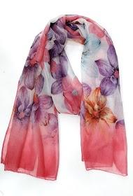 DA FASHION flowers scarf