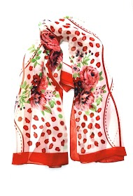 DA FASHION flower print scarf