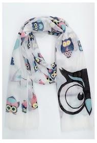 DA FASHION owls print scarf