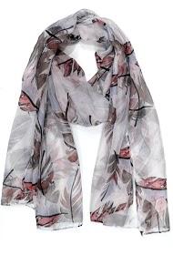DA FASHION leaf motif scarf