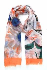 DA FASHION flower pattern scarf
