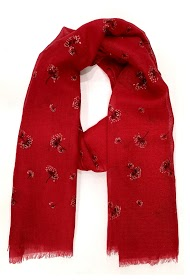 DA FASHION flower glitter scarf