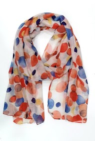 DA FASHION multicolored polka dot scarf
