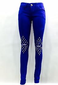 DA FASHION slim stretch jeans royal blue