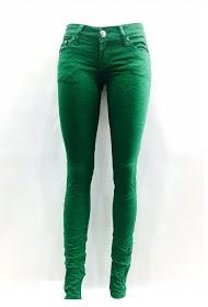 DA FASHION green stretch jeans