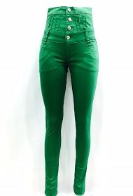 DA FASHION stretch green jean high waist