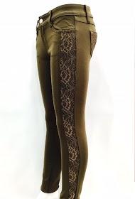 DA FASHION lace stretch pants