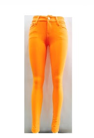 DA FASHION orange stretch pants