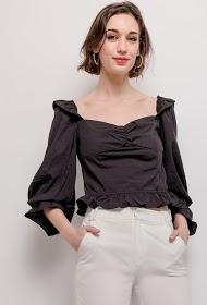 DANITY blusa com folhos