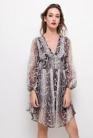 DANITY vestido con estampado de pitón