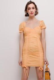 DANITY draperet kjole med polka prikker