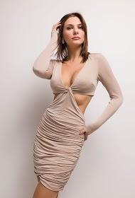 DANITY vestido drapeado