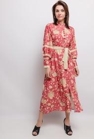 DANITY trykt midi-kjole