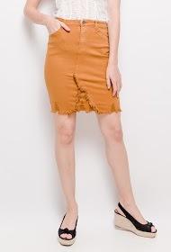 DAYSIE nederdel med flosset kant