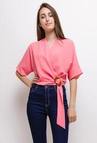 DAYSIE wrap blouse