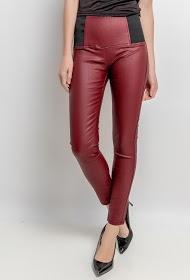 DAYSIE leggings em couro sintético