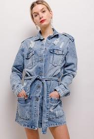 DAYSIE vestido de jaqueta jeans