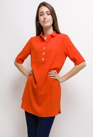 DAYSIE tunic with collar