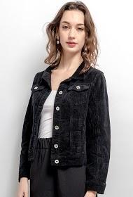 DAYSIE casaco de veludo