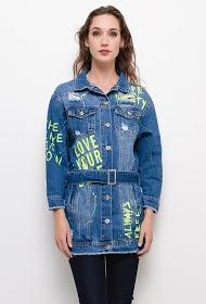 DAYSIE lange jeansjacke