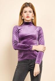 EIGHT PARIS velvet blouse