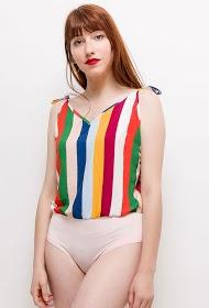 EIGHT PARIS striped body