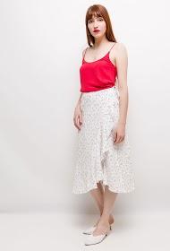 EIGHT PARIS flowery midi skirt