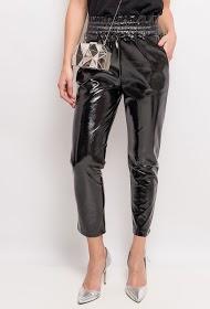 EIGHT PARIS vinyl trousers